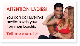 Ladies access Livelinks chat line phone numbers for free